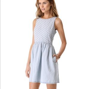 LIKE NEW CONDITION madewell chambray eyelet dress